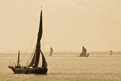 Темза barges внутри Sepia Стоковые Фото