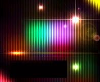 Темная абстрактная сияющая предпосылка спектра технологии Стоковая Фотография