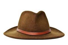 Темная ая-зелен ковбойская шляпа Стоковые Изображения