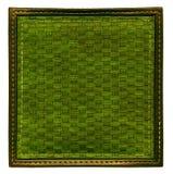 Темная ая-зелен плетеная рамка Стоковая Фотография