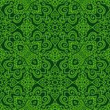 Темная ая-зелен фольклорная картина Стоковое Фото