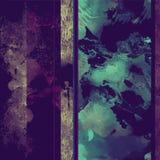 Темная безшовная картина с декоративными элементами Стоковое фото RF