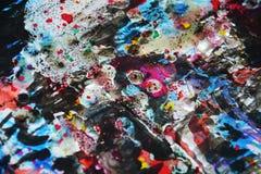 Темная белизна запачкала цвета, контрасты, предпосылку waxy краски творческую Стоковое Фото