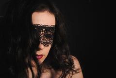 темная вуаль девушки Стоковые Фото