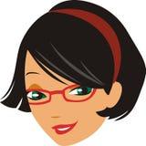 темная девушка с волосами Стоковые Фото