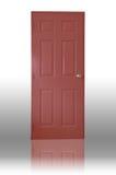 темная древесина красного цвета двери Стоковое Изображение