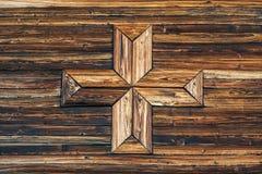 темная древесина текстуры Деревянная предпосылка с крестом стоковое изображение