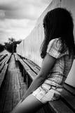 темная девушка Стоковое Фото
