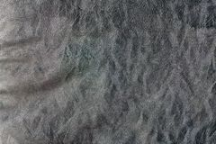 Темная естественная коричневая кожаная предпосылка крупного плана текстуры Стоковые Фотографии RF