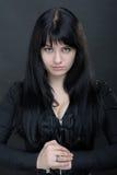 темная женщина Стоковые Фотографии RF