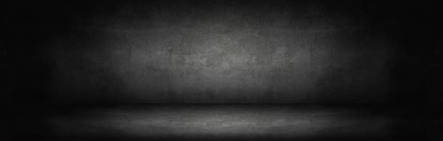 темная и серая абстрактная стена цемента Стоковая Фотография