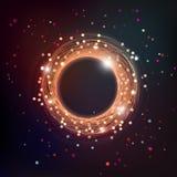 Темная иллюстрация космоса свирли с частицами и звездами Стоковые Изображения RF