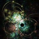 Темная картина фрактали Стоковое Фото