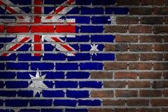 Темная кирпичная стена - Австралия стоковое фото rf