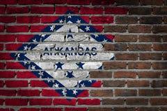 Темная кирпичная стена - Арканзас стоковое изображение rf