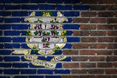 Темная кирпичная стена - Коннектикут стоковое изображение rf