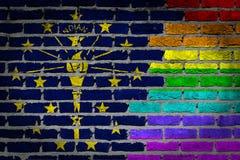 Темная кирпичная стена - права LGBT - Индиана стоковые фотографии rf