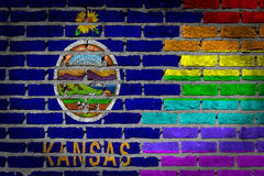 Темная кирпичная стена - права LGBT - Канзас стоковое фото