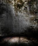 темная комната grunge Стоковое Изображение