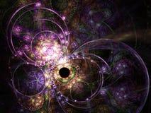 Темная красочная картина фрактали Стоковые Изображения RF