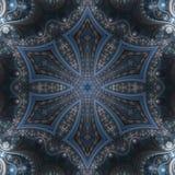 Темная мандала фрактали Стоковая Фотография
