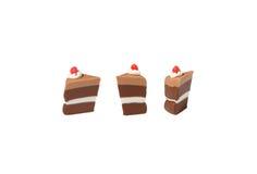 Темная модель шоколадного торта от японской глины стоковое изображение rf