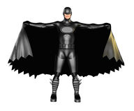 Темная накидка супергероя Стоковые Фото