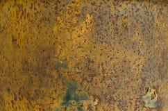 Темная несенная ржавая предпосылка текстуры металла Стоковые Изображения