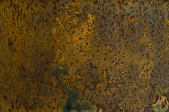 Темная несенная ржавая предпосылка текстуры металла Стоковое Фото