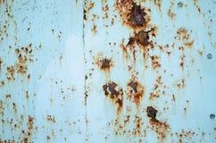 Темная несенная ржавая предпосылка текстуры металла Стоковые Изображения RF