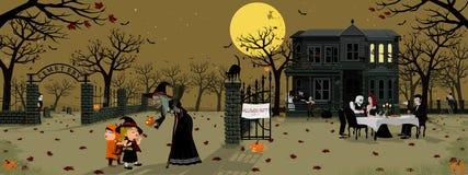 Темная партия ночи хеллоуина Стоковые Изображения