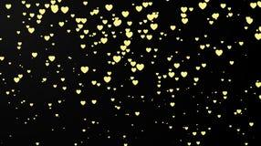 Темная предпосылка с Confetti сердца 8 дополнительный ai как осмотр приветствию архива eps дня карточки предпосылки теперь над ож Стоковые Изображения RF
