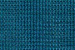 Темная предпосылка бирюзы от мягкого ворсистого конца ткани вверх Текстура макроса тканей Стоковые Фотографии RF