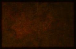 Темная предпосылка Брайна, который граничат текстурированная материальная Стоковое фото RF