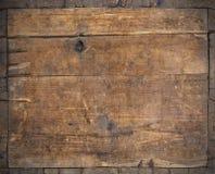 Темная предпосылка grunge старой древесины Стоковая Фотография RF