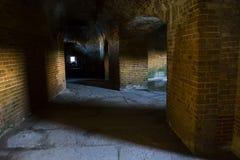 Темная прихожая в форте Стоковое фото RF