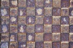 Темная ржавая текстура металла Винтажное влияние Стоковые Изображения RF