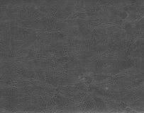 Темная серая кожаная текстура Стоковое Изображение RF