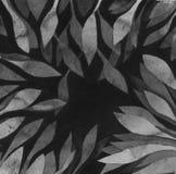 Темная серая шкала выходит рамка - акварель monochrome отрицательная картина космоса Шаблон чертежа руки для приглашений, поздрав иллюстрация вектора