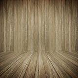 Темная старая деревянная предпосылка комнаты Стоковое Фото