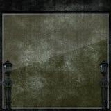Темная стеклянная стена с предпосылкой фонарика Стоковые Изображения RF