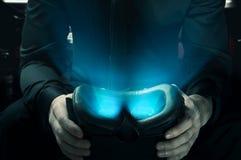 Темная сторона виртуальной реальности Стоковое фото RF