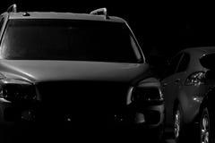 темная стоянка автомобилей серии Стоковая Фотография RF