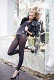 темная сумасбродная женщина состава Стоковая Фотография RF