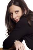 темная с волосами беременная женщина Стоковые Фотографии RF