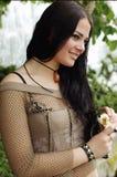 темная с волосами милая женщина Стоковое фото RF