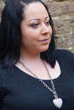 темная с волосами модель женское бельё Стоковое Изображение