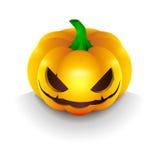 Темная тыква на хеллоуине Стоковые Изображения
