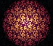 Темная фиолетовая предпосылка с виньеткой золота Стоковые Фото
