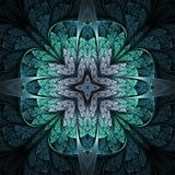 Темная флористическая мандала Стоковое Изображение RF